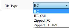 IFC file type keuze