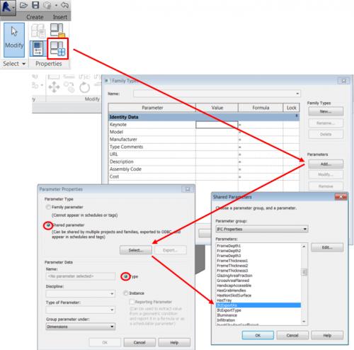 voorbeeld ifc_ecportAs ifc parameters