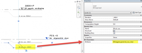 IfcName parameter Revit level